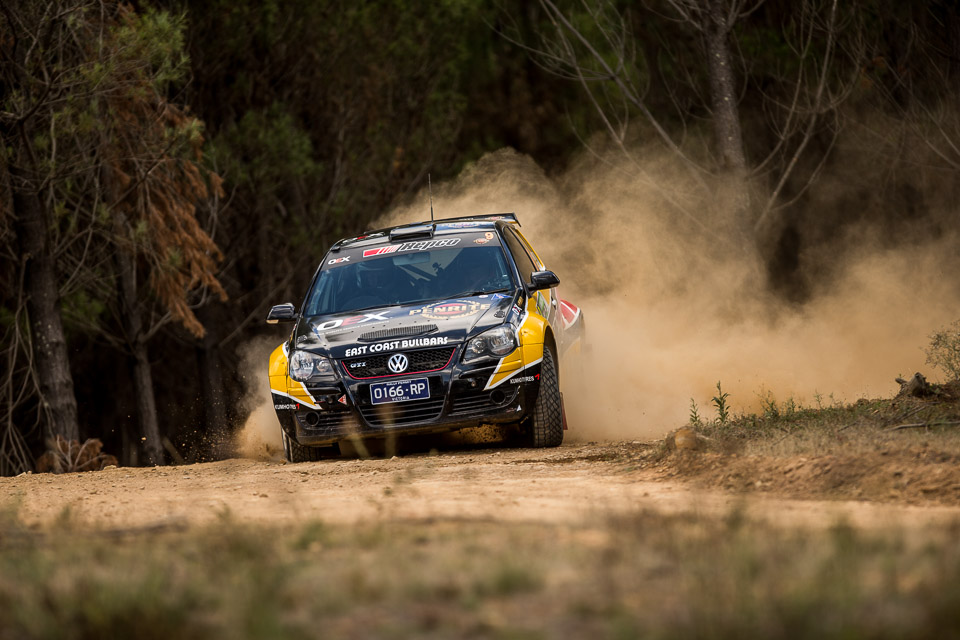 East Coast Bullbars Australian Rally Championship competitors compete in Heat 2 of the National Capital Rally, which is Round 1 of the Championship. Round 1 is being held in the forest areas surrounding Canberra city